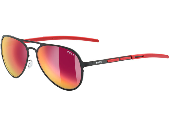 UVEX LGL 30 Pola Lifestyle Glasses black red/mirror red